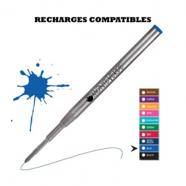 RECHARGE BILLE TYPE MONTBLANC BLEUE MOYENNE