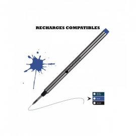 RECHARGE ROLLER TYPE MONTBLANC BLEUE MOYENNE